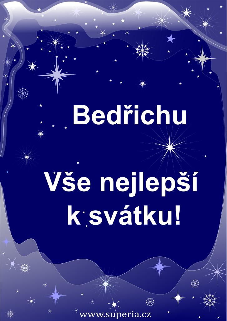 Bedřich - 1. března 2021 - obrázkové přání k jmeninám, gratulace k svátku, na Facebook