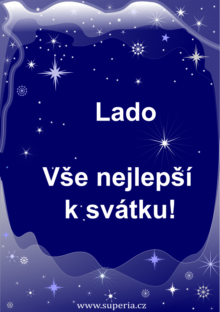 Lada - 8. srpna 2020, přání ke svátku kamarádce, kamarádce přání k svátku