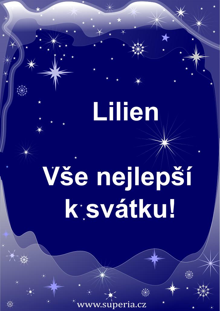 Lilien - 25. únor 2021 - přání k svátku podle jmen, blahopřání k jmeninám k zaslání emailem