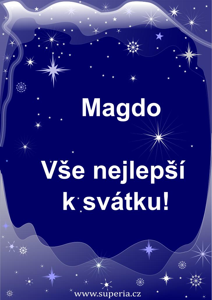 Magda - 22. července 2019 - obrázkové přání k jmeninám, gratulace k svátku, na Facebook