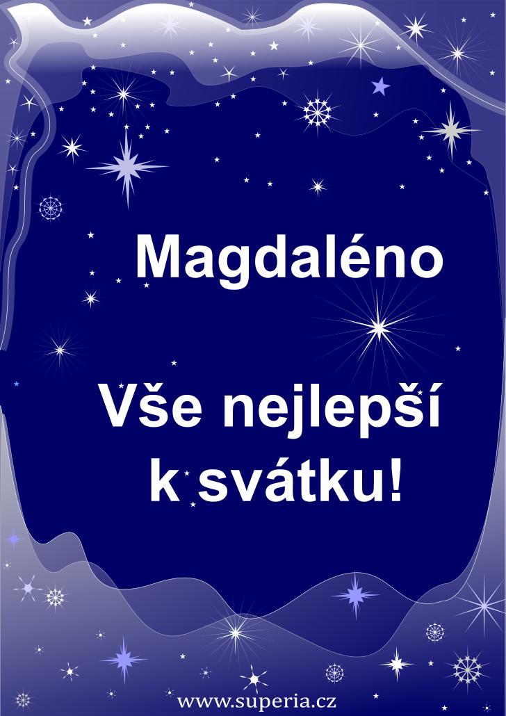 Magdaléna - 22. července 2019 - obrázkové přání k jmeninám, gratulace k svátku, na Facebook