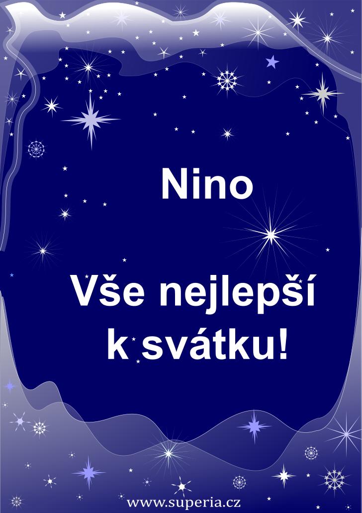 Nina - 24. říjen 2019 - přání k svátku podle jmen, blahopřání k jmeninám k zaslání emailem