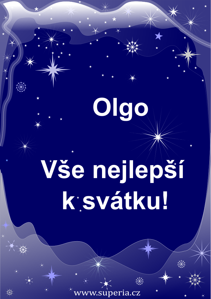 Olga - 12. července 2020, přání k svátku rozdělené podle jmen, přání k jmeninám podle jmen