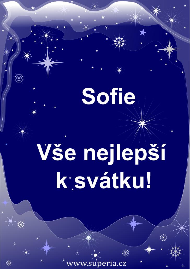 Sofie - 15. květen 2021 - přání k svátku podle jmen, blahopřání k jmeninám k zaslání emailem