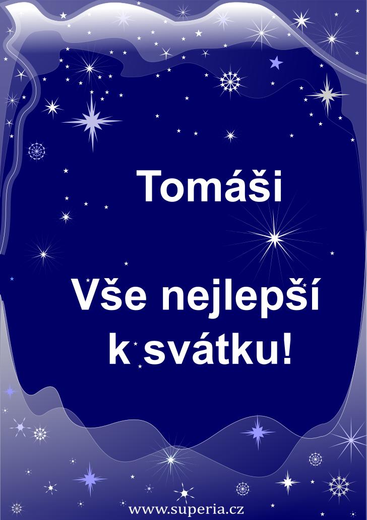 Tomáš - 6. března 2021, dětské přání ke svátku, jmeniny děti, dětské obrázky k oslavě jmenin
