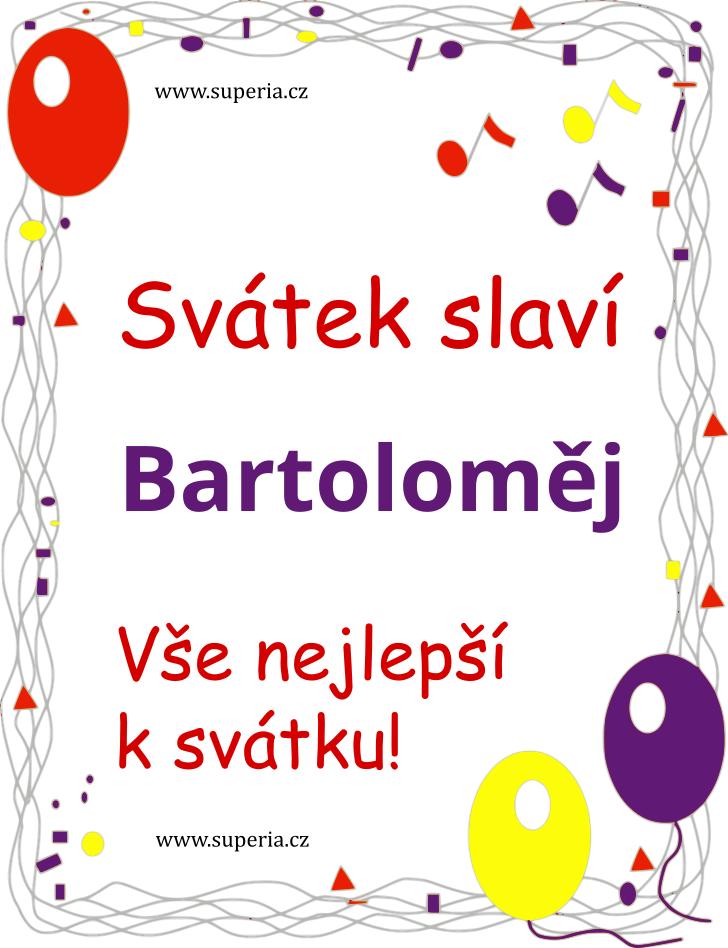 Bartoloměj - 23. srpen 2019 - Texty blahopřání k jmeninám podle jmen