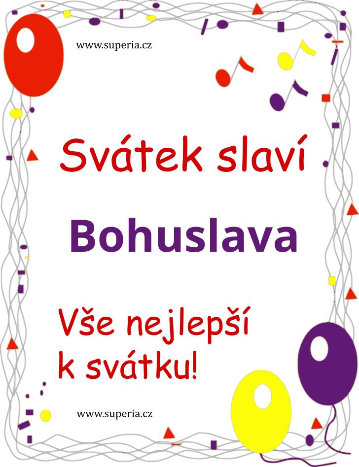Bohuslava - 6. červenec 2020 - Obrázková přáníčka k jmeninám