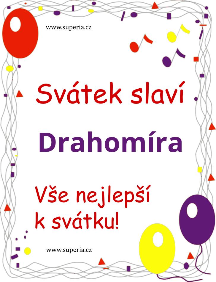 Drahomíra - 17. červenec 2020 - Přáníčka k svátku podle jmen