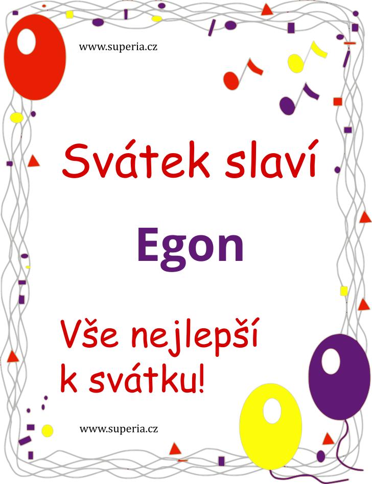 Egon - 14. červenec 2020 - Přání k svátku