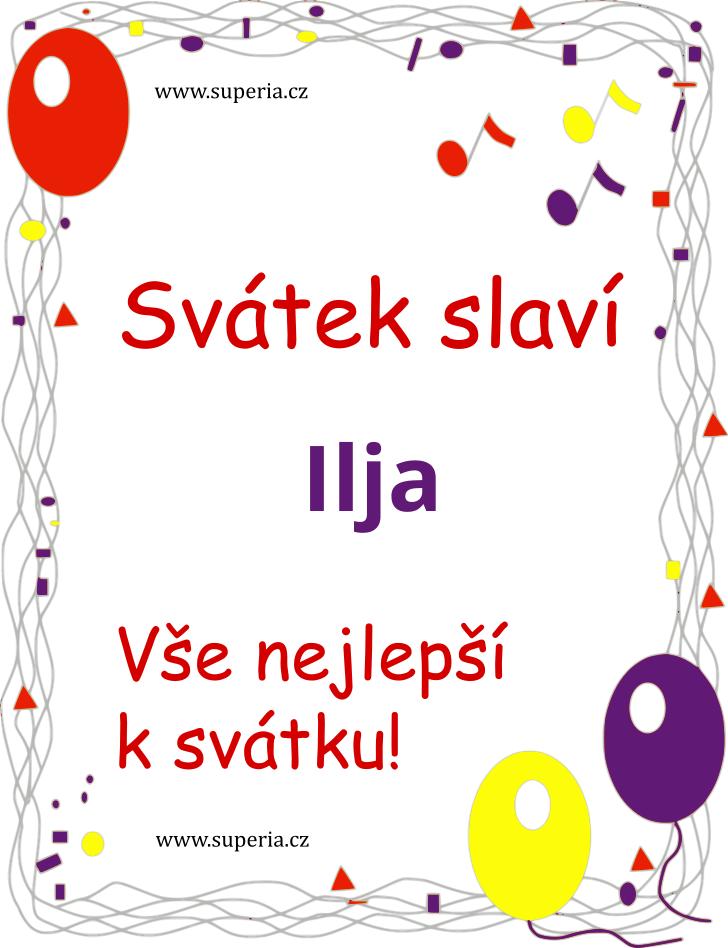 Ilja - 19. červenec 2019 - Vtipná sms blahopřání k jmeninám