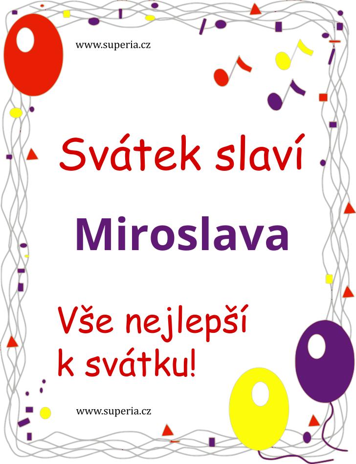 Miroslava - 4. duben 2020 - Texty blahopřání k jmeninám podle jmen