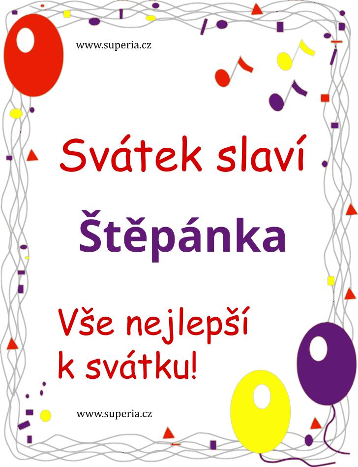 Štěpánka - 30. říjen 2020 - Veršovaná sms přáníčka k svátku