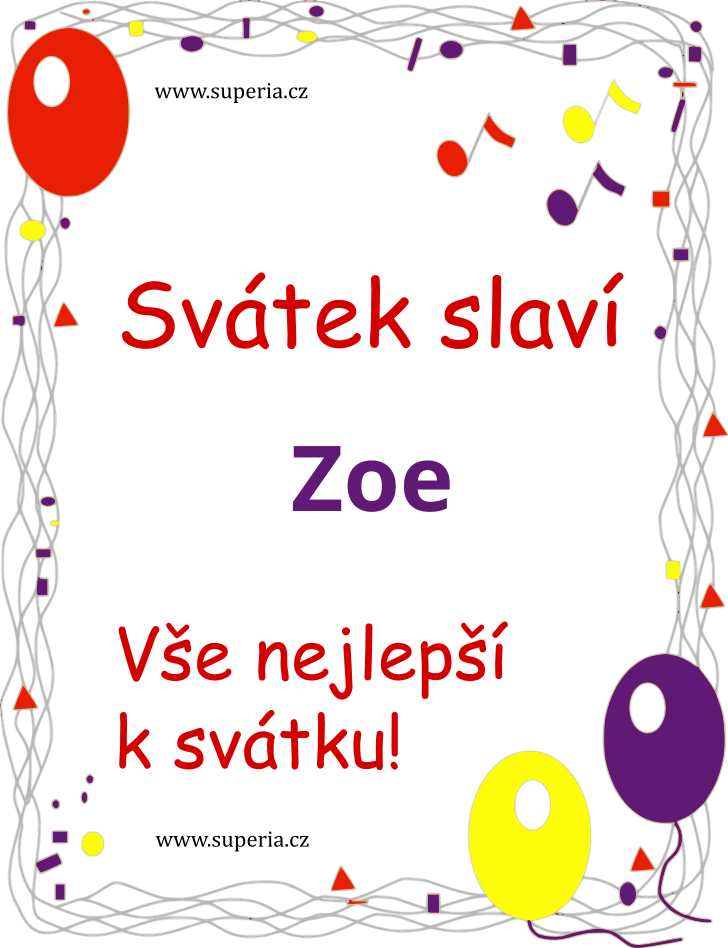 Zoe - 26. říjen 2020 - Doporučené texty sms přání